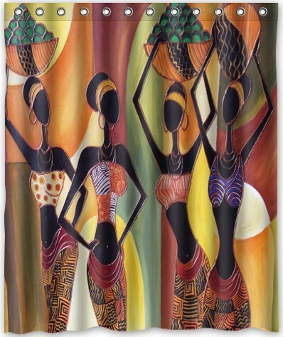 HOT design Afro American Women Shower Curtain 60