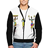 Simoner Life in Africa Men's Casual Long Sleeve Full Zip up Jacket Lightweight Jackets Coat with Pockets for Youth Boys