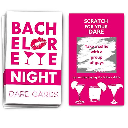 40 Bachelorette Party Drinking Game Dare Card - Bachelorette Scratch Off Cards - Perfect for Girls Night Out Activity,Bridal Showers, Bridal Parties,Girl Party - Bachelorette Night Dare Card - 40 sheets]()