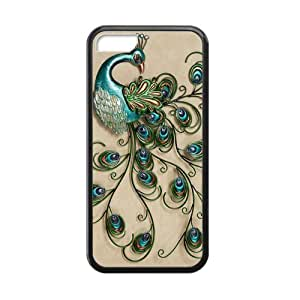 Colorful Peacock Feather iPhone 5c Cases-Cosica Provide Superior Cases For iPhone 5c