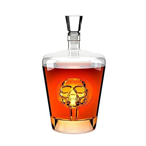 Balvi - Poison Botella para Licor. Licorera de 1L de Capacidad. Contiene una Calavera