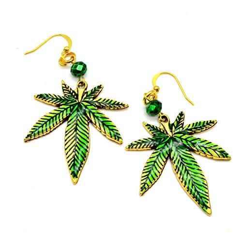 Mary Jane Pot Leaf Earrings - Pot Mary Leaf Jane