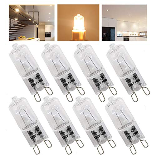 ght Bulbs 40 Watt,Crystal Clear Lense, T4/Q40/G9/CL/120V JD Type Halogen House Hold Light Bulb,for Hanging Pendant Accent Type Spot Down Lamp Chandelier Sconce Fixture Lighting ()