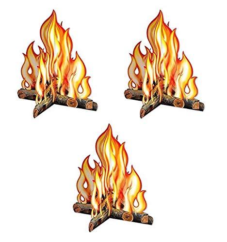 Beistle Premium 3-D Campfire Centerpiece (3-Pack)  -