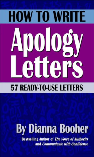 Amazon how to write apology letters 57 ready to use letters how to write apology letters 57 ready to use letters by booher fandeluxe Gallery
