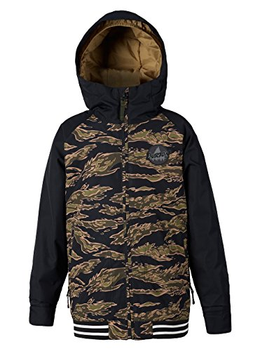 Burton Boys Game Day Jacket, Olive Branch Beast/True Black, X-Small (Jacket Game)