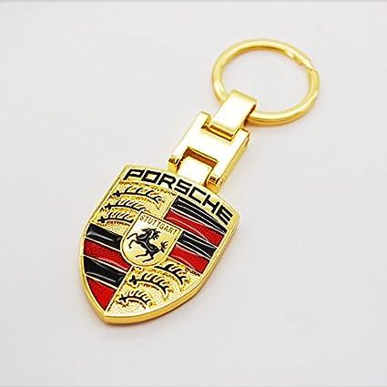 dreamsector porche oro coche Logo Emblema Llavero 3d aleación de ...