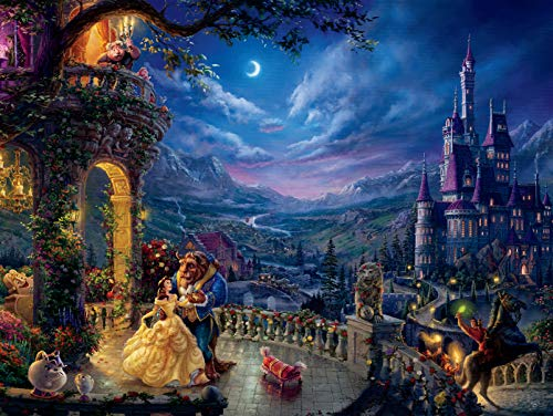 Ceaco 3401-42 Disney Beauty & The Beast Dancing in The Moonlight Puzzle - 1500Piece -
