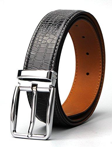 Leather Crocodile Belt (XIANGUO Men's Leather Belt Crocodile Belt For)