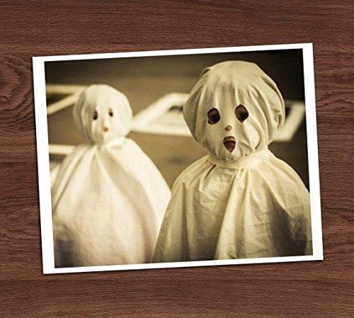 Creepy Cute Ghost Kids Vintage Photo Sheet Costumes