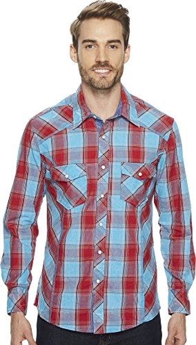 Snap Close Western Shirt (Rock and Roll Cowboy  Men's Long Sleeve Snap B2S4113 Red XX-Large)