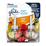 Glade PlugInsScented Oil Refill Hawaiian Breeze, Essential Oil Infused Wall Plug In, Pack of 2