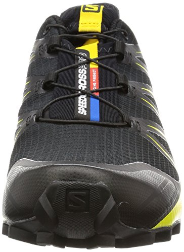 Pro Chaussures Salomon Homme Corona Black Speedcross Black de Trail Noir Yellow E55rSqw