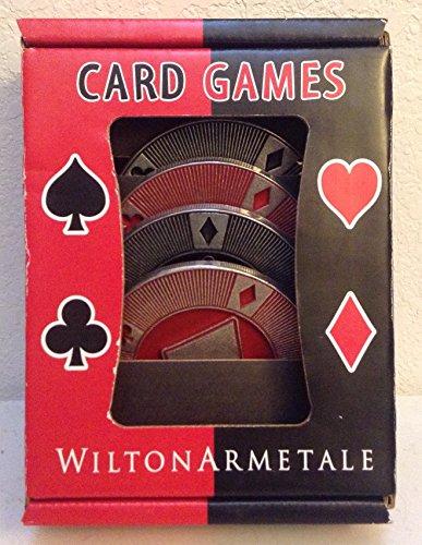 Wilton Armetale S/4 Card Game Coasters