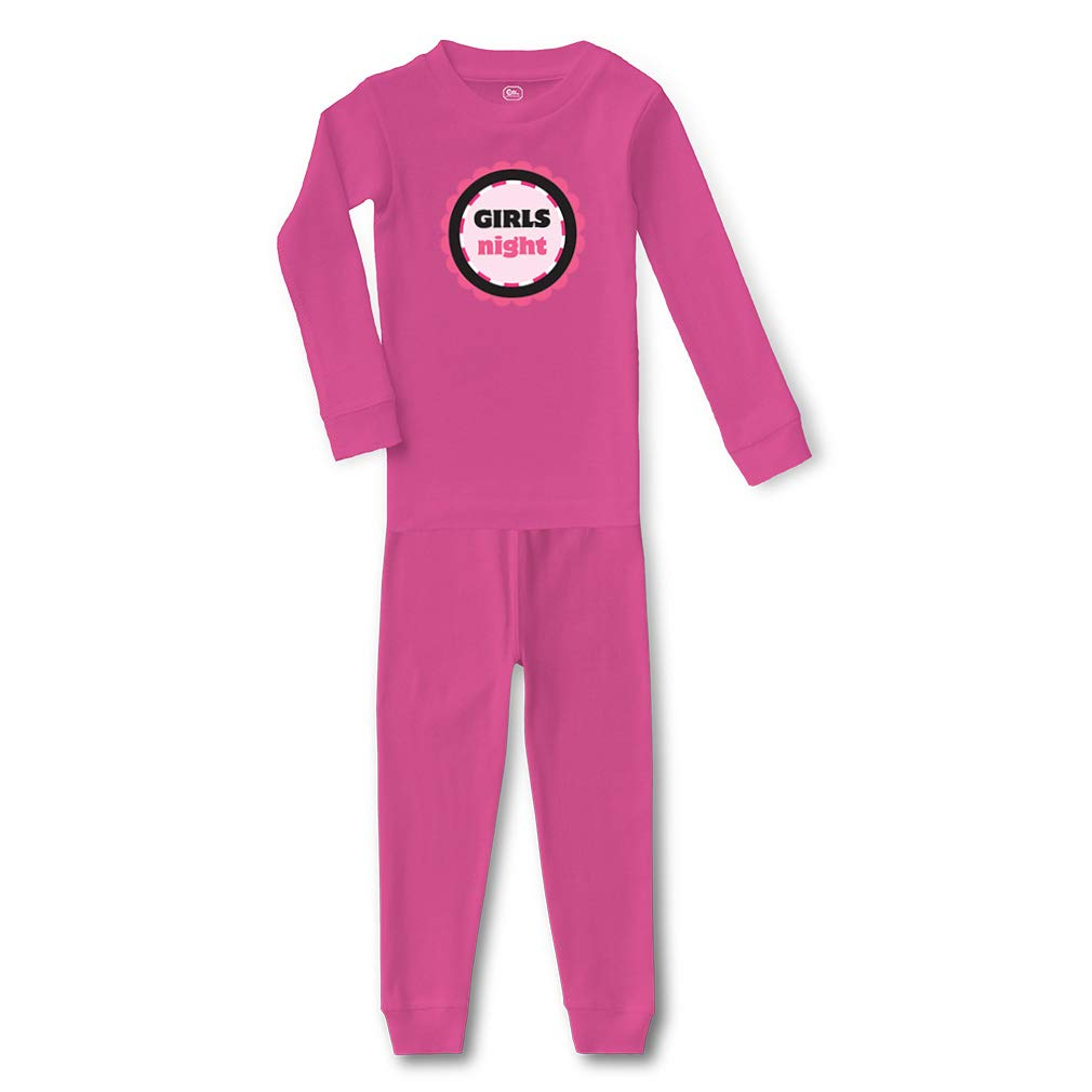 Girls Night Cotton Crewneck Boys-Girls Infant Sleepwear Pajama 2 Pcs Set