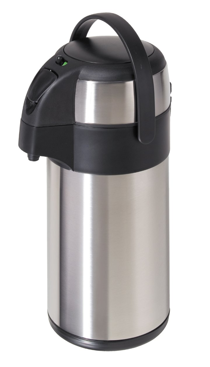 Oggi 102-Ounce Pumpmaster with Stainless Steel Liner, Push Action Pump and Safety Lock