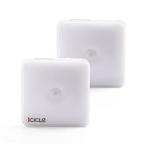 Icicle USB Rechargeable Closet Lights, 2 Pack Motion Sensor Lights Wireless  Automatic Cabinet LED,