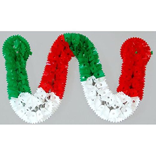 Red, White, and Green Plastic Garland by Amols Specialty Inc.