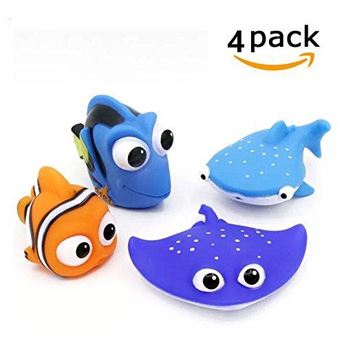 - HM Disney Baby Bath Squirt Toys, Finding Nemo for Kids Baby Shower Swim 4pcs
