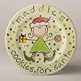 Cookies for Santa Personalized Ceramic Plate for Girl