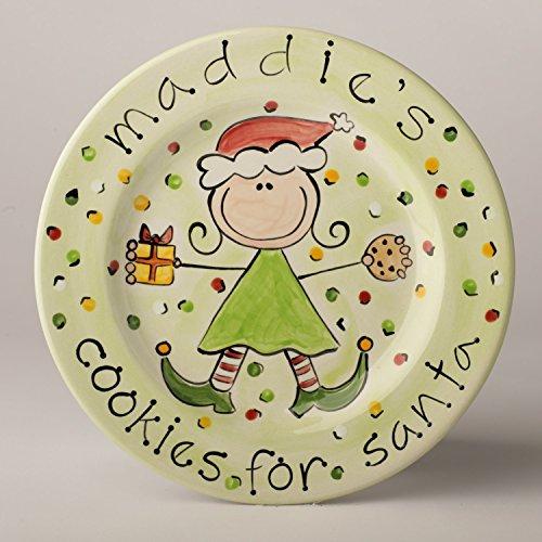 Cookies for Santa Personalized Ceramic Plate for (Personalized Cookies For Santa Plate)