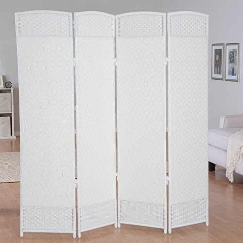 Outdoor/Indoor Woven Resin 4 Panel Room Divider by Kaven