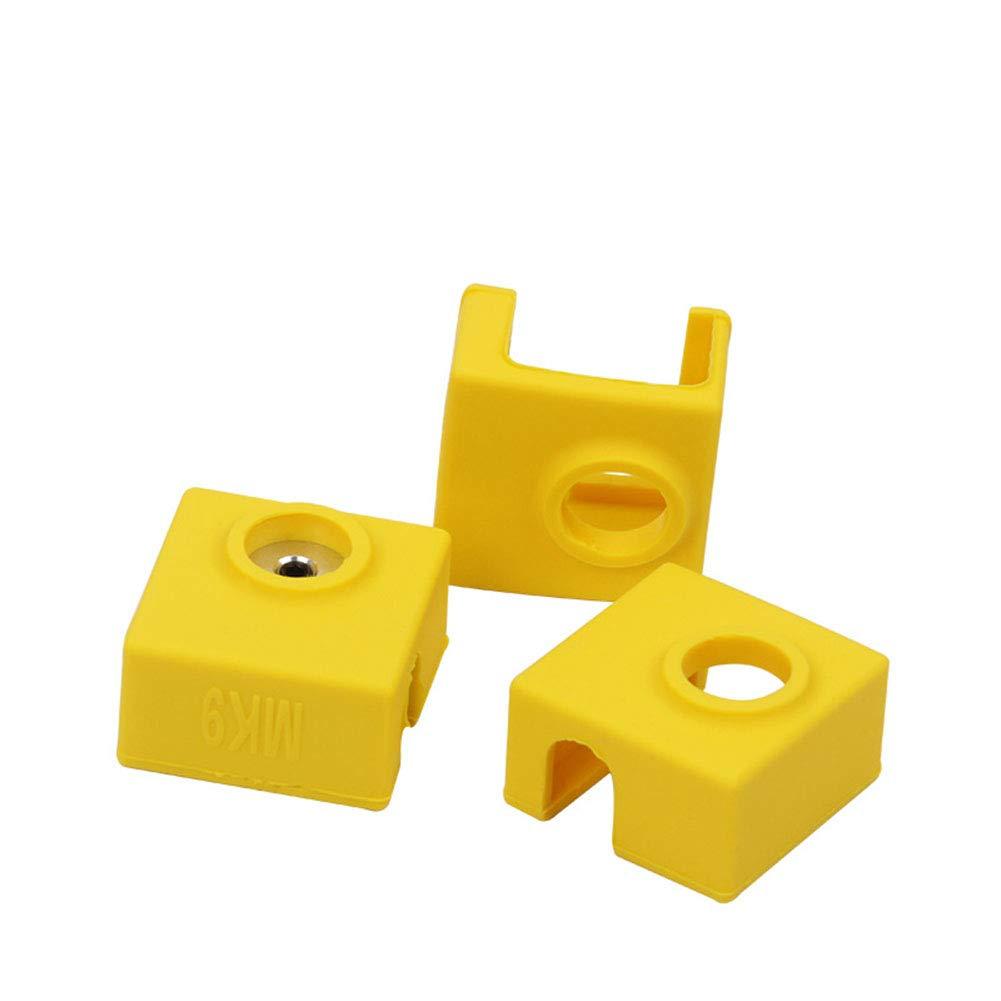 ETbotu MK7// MK8//MK9 Silicone Insulation Socks Cover for Replicator Wanhao Anet Reprap Prusa Tronxy Heater Block Cover 3D Printer Parts Accessories