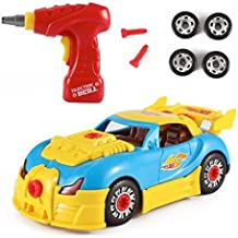 Mr.Fix.it Race Car Toy Take-A-Part Battery-Operated Drill Set with Lights and Sounds
