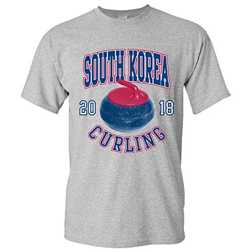 South Korea Curling 2018 Winter Sports Games T Shirt - Small - Sport Grey