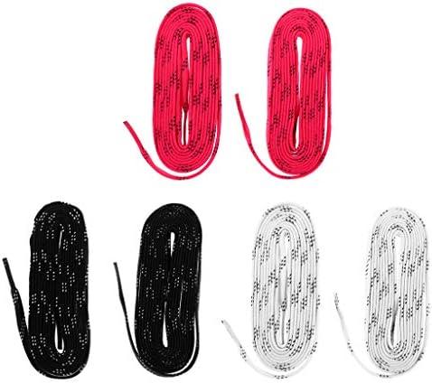 ローラー/インラインスケート 靴ひも スケート靴ひも 3ペア 96インチ