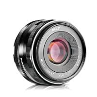 Meike 35mm F1.7 Manual Focus Prime Lens for Micro 4/3 MFT M4/3 Olympus and Panasonic Digital Mirrorless Cameras