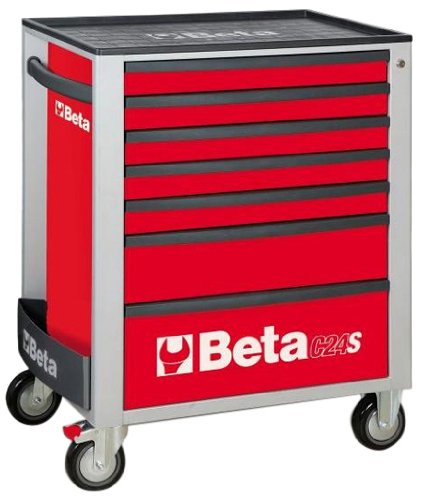 C24S 7/R-MOBILE ROLLER CAB 7 DRAWERS RED by Beta Tools