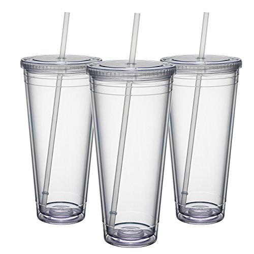 Maars Insulated Travel Tumblers 32 oz. | Double Wall Acrylic | 12 Pack (Plastic Tumblers Lids With 12 Oz)