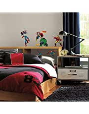 RoomMates RM - Marvel Helden Comic Muursticker, PVC, kleurrijk, 29 x 13 x 2,5 cm