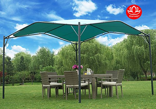 Kozyard Domingo 12'x12′ Sun Shade Gazebo Canopy with UV Resistant Fabric and Strong  ...