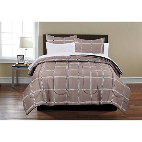 Mainstays Plaid Bedding Bed-In-A-Bag It includes the comforter, complete sheet set, shams, and bedskirt, Full Size