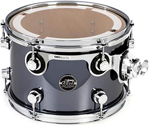 DW Performance Series Mounted Tom - 8'' x 12'' Chrome Shadow FinishPly
