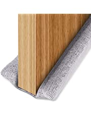 BAINING 36 Inch Twin Door Draft Stopper, Double Side Under Door Bottom Seal Strip Noise Blocker, 42 Inch Length Adjustable Suitable for 30, 32, 36 and 42 Inch Interior Doors, Machine Washable