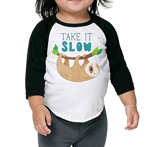 SH-rong Sloth Take It Away Kids Essential Tshirt Size4 Toddler -