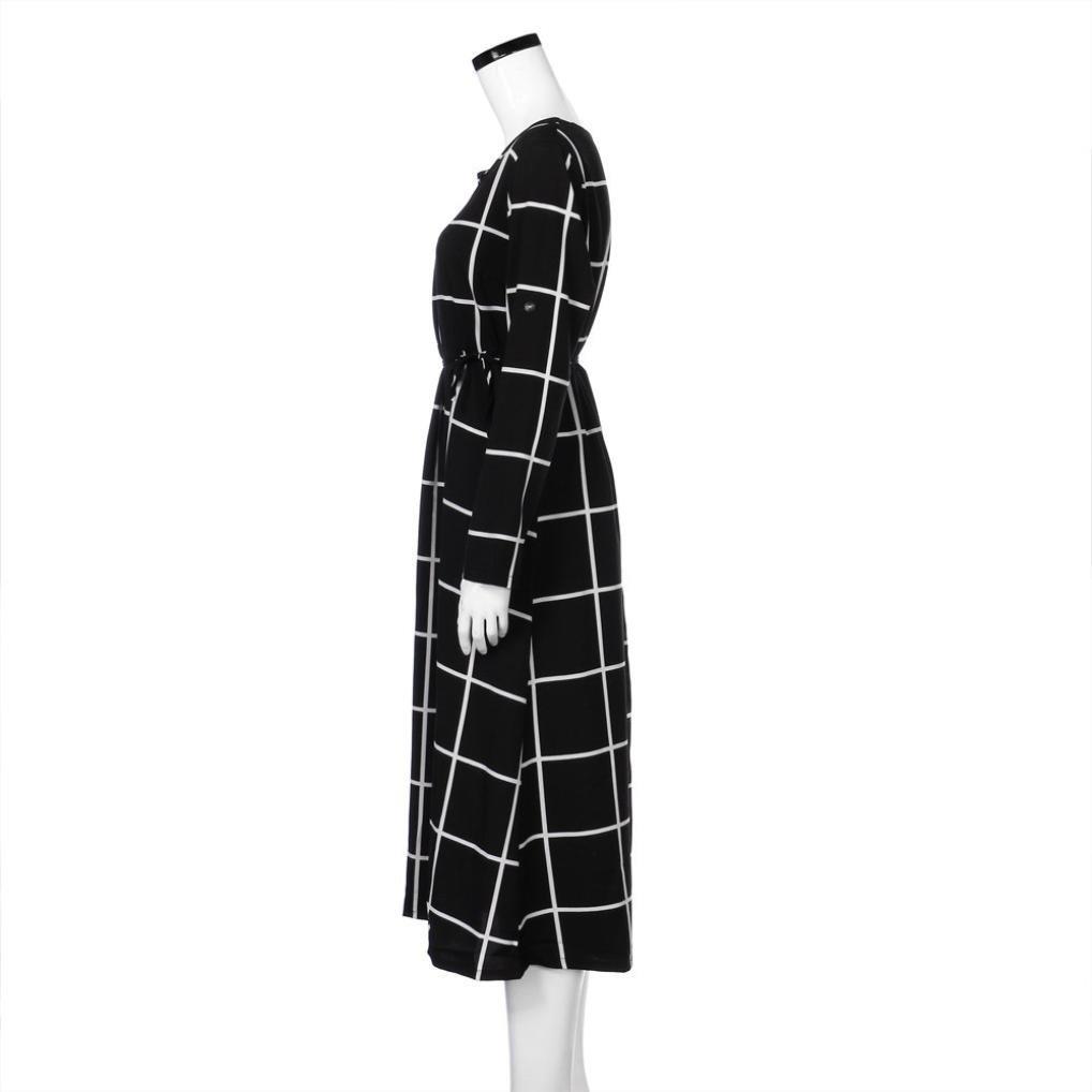 BBsmile ropa para mujeres embarazadas mujeres embarazadas Sexy fotografía apoyan Casual enfermería Boho Chic Tie vestido largo (Negro, L): Amazon.es: Ropa y ...