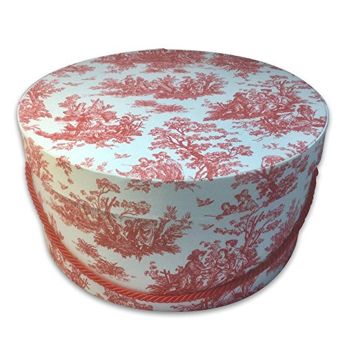 Hat Gift Box - Toile in RED & White