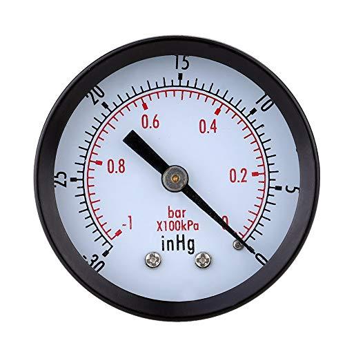 TS-Z50A 0~-30inHg/0~-1bar Dia 50 Vacuum Pressure Gauge Measuring Manometer Dial Display