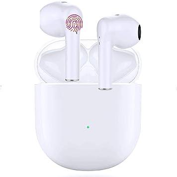 Oferta amazon: Auriculares Inalámbricos Bluetooth 5.0, Auriculares Bluetooth Deportivos IPX5 Impermeable, In-Ear TWS Cascos Bluetooth Inalámbricos con Microfono Dual y Caja de Carga para iPhone/Samsung/Huawei/Xiaomi