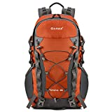 Gonex Barbarian Outdoor Hiking Climbing Backpack Daypacks Waterproof Mountaineering Bag 40L, Rain Cover Included (Orange)