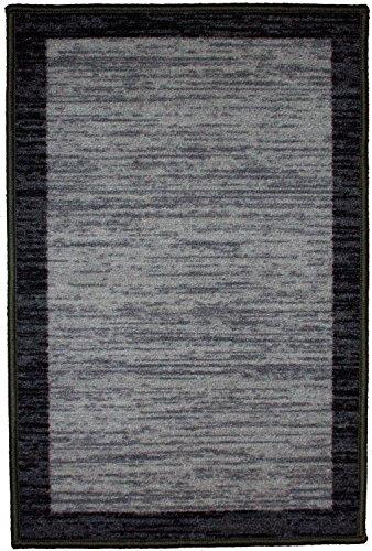 Kashi Home Sonoma Collection Stylish Geometric Inspired Decorative Accent Egyptian Area Rug, Black, 20