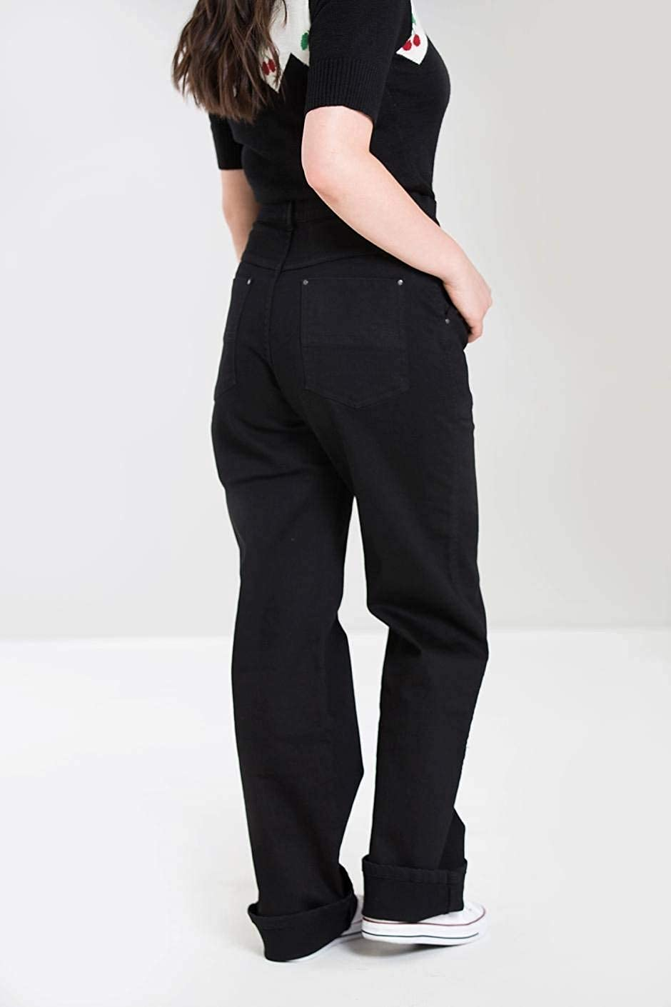 Hell Bunny Weston Anni 40 Stile Rockabilly Denim Jeans