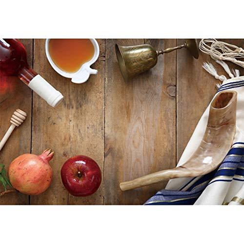 - Renaiss 5x3ft Rosh Hashanah Backdrop Honey Apple Pomegranate Shofar Horn Jewish New Year Traditional Festival Celebration Party Background Decor Photo Studio Props Vinyl Tablecloth