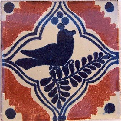 Fine Crafts Imports 4.2x4.2 9 pcs Colonial Bird Talavera Mexican Tile ()