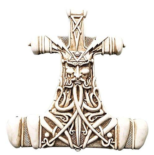 Hammer Mjolnir Thunder Wall Plaque Home Decor Statue Figurine ()