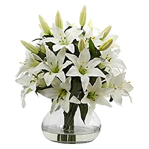 Nearly Natural Lily Blossoms Silk Flower 93